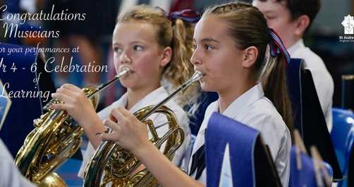 Music at the Year 4 - 6 Celebration of Learning