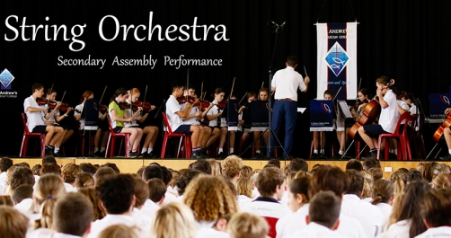 String Orchestra at Secondary Assembly