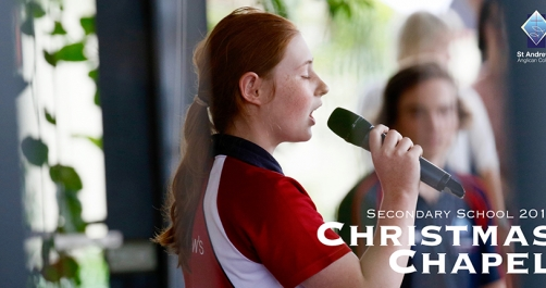 Bianca Wylie performs at Secondary Christmas Chapel