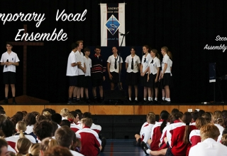 Contemporary Vocal Ensemble Assembly Performance
