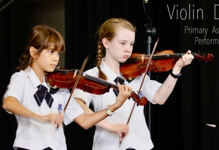 Violin Duet Assembly Performance