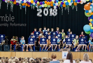 Jazz Ensemble perform at Primary Assembly
