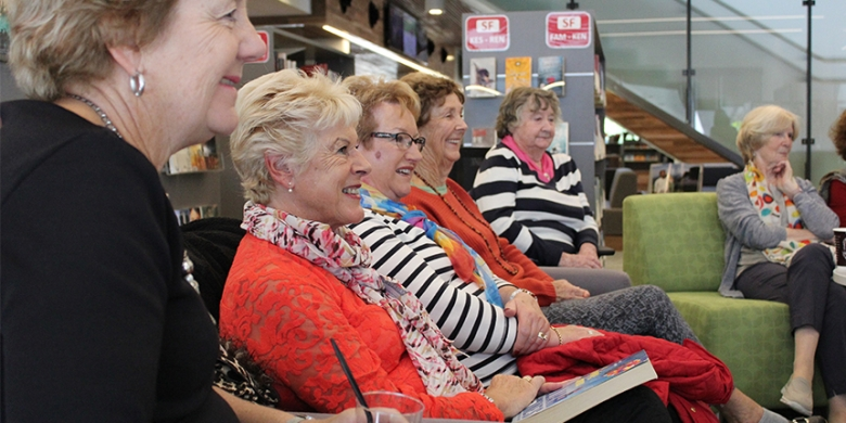 Manor Book Discussion Group visits the Learning Hub