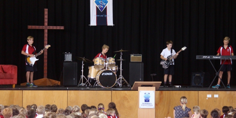 Year Six Students Debut band Performance