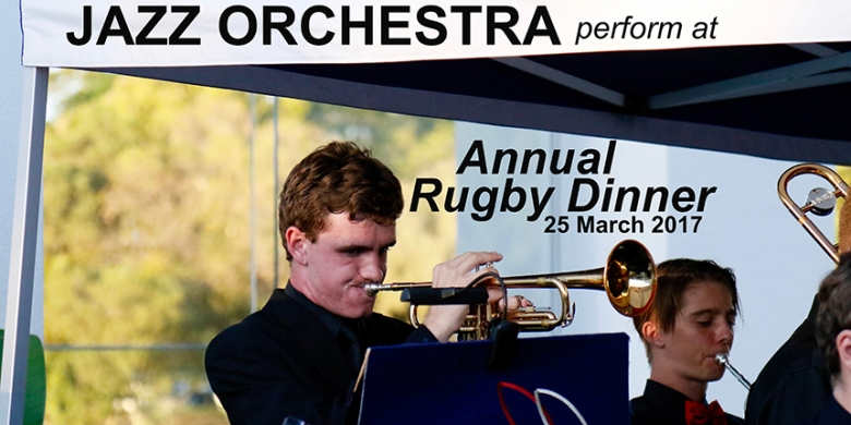 Jazz Orchestra perform at the Annual Rugby Dinner