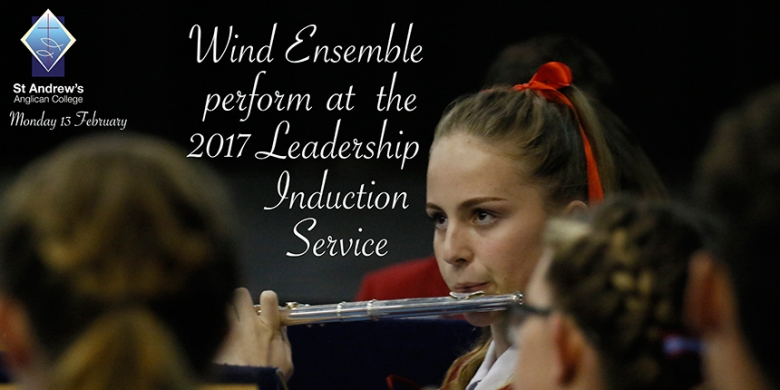 Wind Ensemble perform at Leadership Induction Service