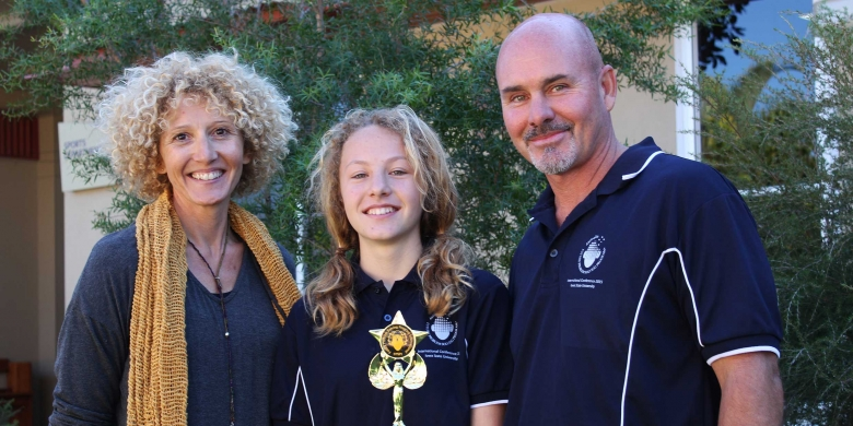 Mia Meder-Bird with parents Johanne Meder and Graeme Bird.jpg