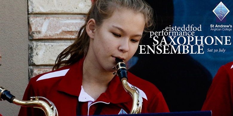 Saxophone Ensemble perform at the Sunshine Coast Junior Eisteddfod