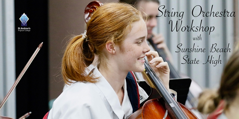 String Orchestra workshop with Sunshine Beach State High School