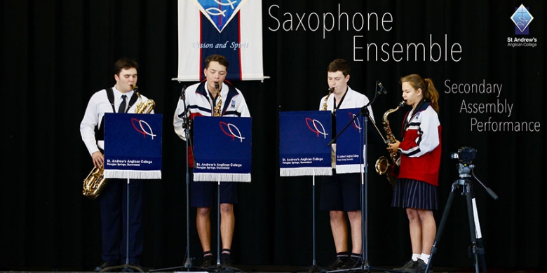 Saxophone Ensemble Assembly Performance