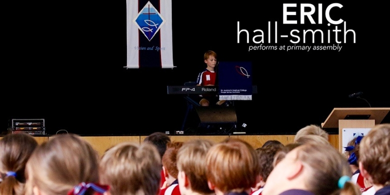 Eric Hall-Smith performs at Primary Assembly