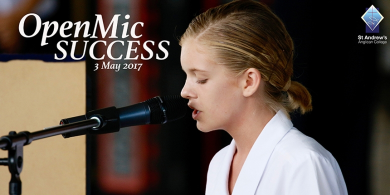 Students perform at College Open Mic