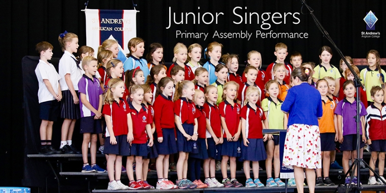 Junior Singers perform at Primary Assembly