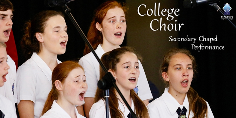 College Choir performs at Secondary Chapel