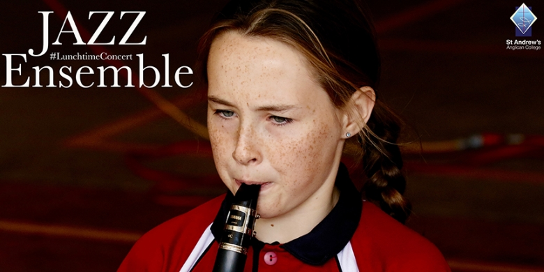 Jazz Ensemble stage Lunchtime Concert for Primary School