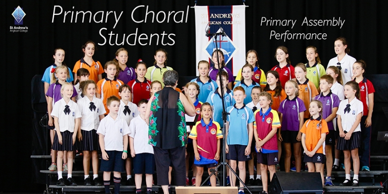 Primary Choral Students perform at Primary Assembly