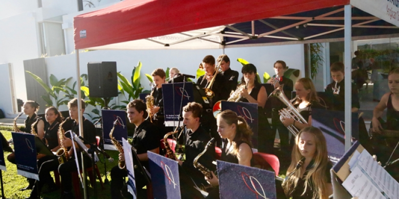 Jazz Orchestra performs at Ocean Street Markets