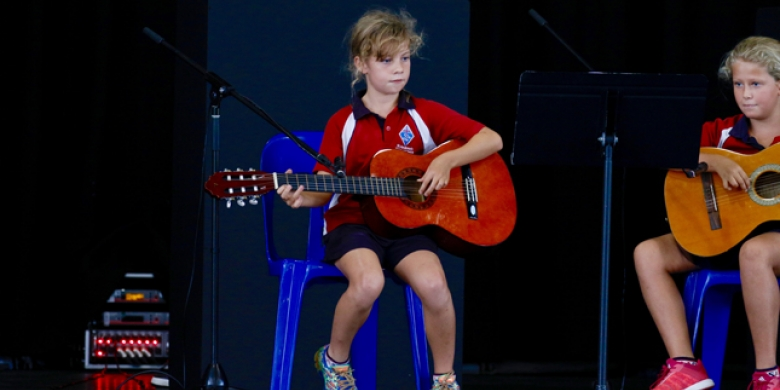 Lucy Bowen & Maddy Parfitt perform at Primary Assembly
