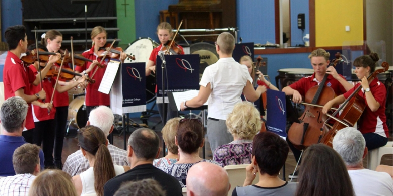 Chamber String Ensemble performs at Foundation Day