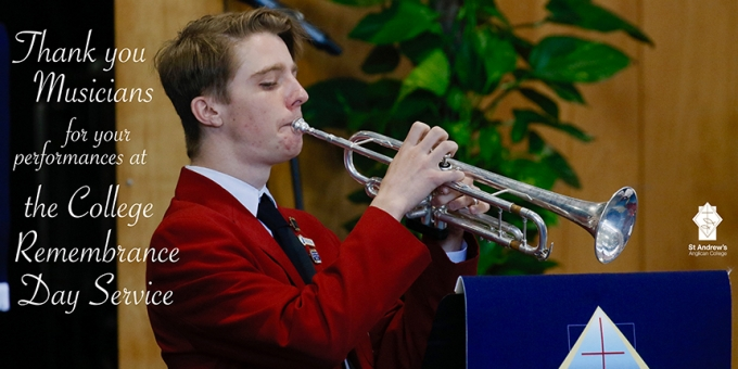 Music at the College Remembrance Day Service