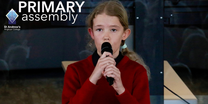 Emma performs at Primary Assembly