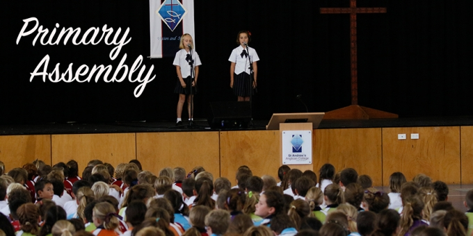 Sian Townsend & Hazel Hendry perform at Primary Assembly