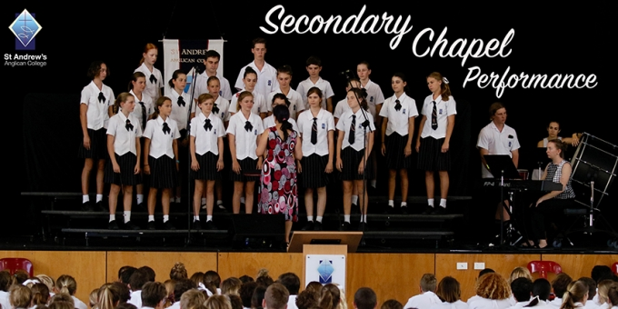 Combined Choir performs at Secondary Chapel