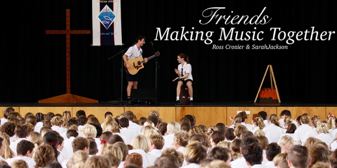 Friends 'Making Music Together'