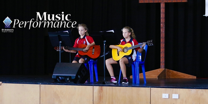 Lucy & Maddy perform at Primary Assembly