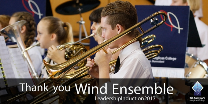 Wind Ensemble Perform at the Leadership Induction Service